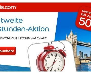 Hotels.com 72-Stunden Sale mit bis zu 50% Rabatt auf Hotels