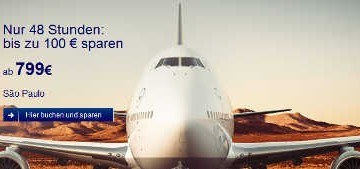 Lufthansa bis 100 Euro Rabatt auf Flüge weltweit