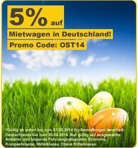 Mietwagenmarkt Gutschein 5% Rabatt in Deutschland