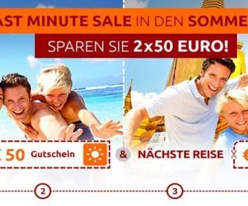 Opodo Reisegutschein 2 x 50 Euro für Last Minute- oder Pauschalreisen